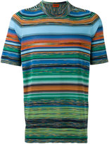 Missoni blurry stripes print T-shirt - men - Cotton - 48