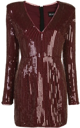 HANEY Carlotta sequinned mini dress
