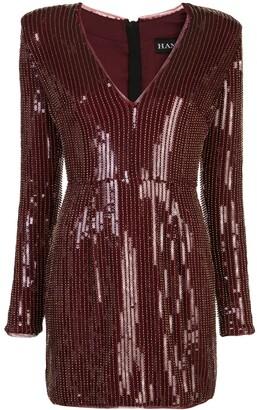 HANEY Carlotta sequinned mini dress