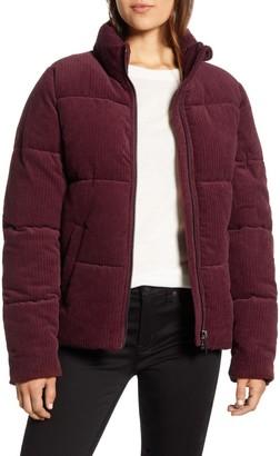 Andrew Marc Corduroy Super Puffer Jacket