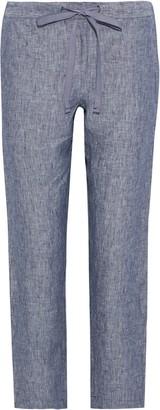 Onia Cory Melange Linen Straight-leg Pants