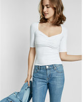 Express Sweetheart Neckline Solid Tee