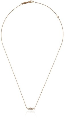 Suzanne Kalan Rose Gold Small Baguette Bar Diamond Necklace