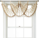 Liz Claiborne Lauren Tab-Top Sheer Waterfall Valance