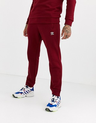 adidas Joggers with logo embroidery in burgundy