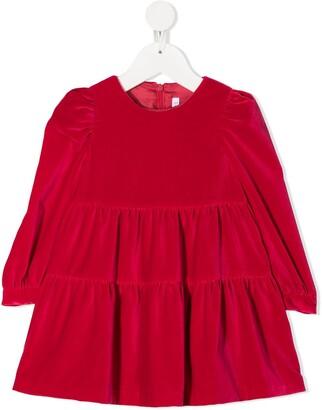 Il Gufo Velvet Flared Dress