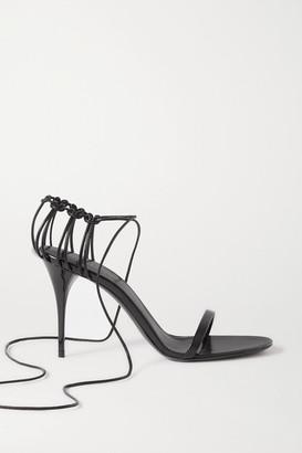Saint Laurent Lexi Lace-up Leather Sandals - Black
