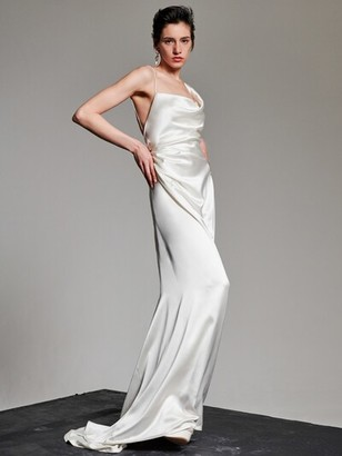 Heavy Silk Satin Minerva Dress