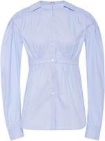 Loewe Smocked Cotton-Poplin Shirt