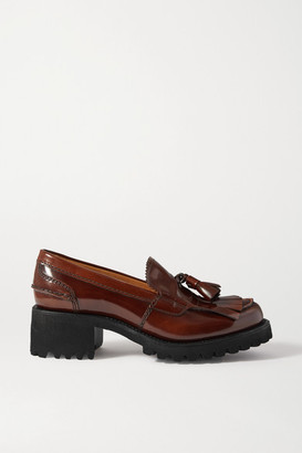 Church's Colleen Tasseled Glossed-leather Loafers - Brown
