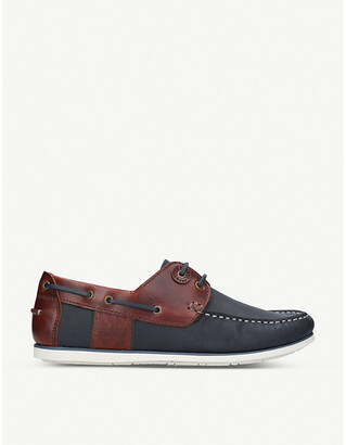 Barbour Capstan oiled leather boat shoes