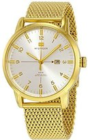 Tommy Hilfiger George Silver Dial Gold-tone Mesh Mens Watch 1791210