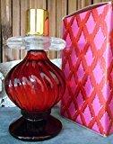 "Avon Elusive Cologne Fragrance 4oz ""Candlestick"" Ruby Glass Decanter Vintage"