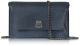 Akris Denim Blue Anouk Mini Envelope Bag