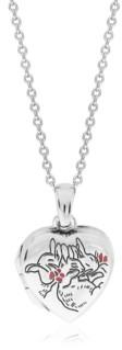 Rhona Sutton Beatrix Potter Sterling Silver Sleeping Bunnies Heart Locket Necklace