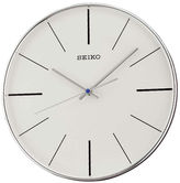 Seiko Silver Tone Quiet Sweep Wall Clock Qxa634Alh