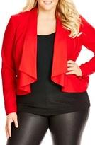 City Chic Plus Size Women's Waterfall Jacket