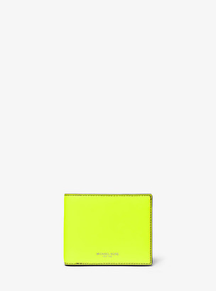 Michael Kors Henry Neon Leather Billfold Wallet With Passcase