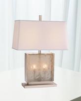 Global Views Cube Slab Table Lamp - Antique Nickel