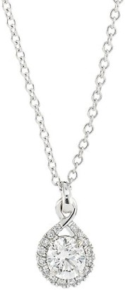 Hearts On Fire Optima 18K White Gold & Diamond Drop Pendant Necklace