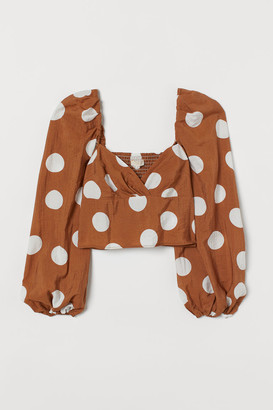 H&M Cropped lyocell-blend top