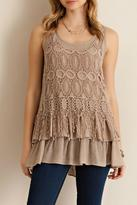 Entro Sleeveless Ruffled Top