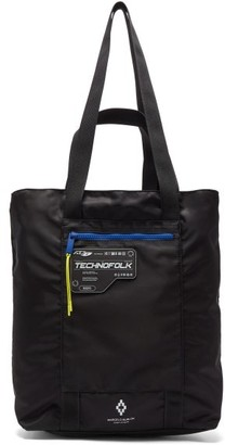 Marcelo Burlon County of Milan Logo-patch Technical Tote Bag - Black