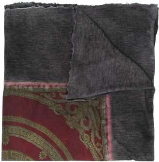 Avant Toi Baroque-Print Raw-Edge Scarf