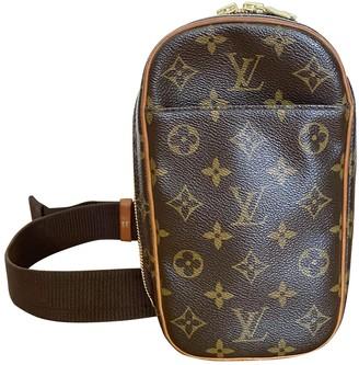 Louis Vuitton Gange Brown Cloth Bags
