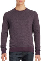 Hudson North Textured Crew Neck Sweater