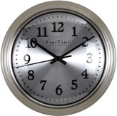 Asstd National Brand FirsTime Sleek Steel Wall Clock
