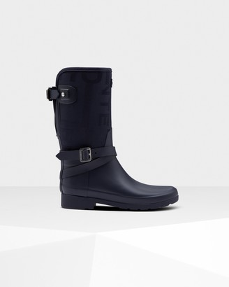 Hunter Women's Refined Slim Fit Adjustable Jacquard Short Wellington Boots