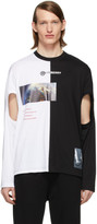 Burberry Black and White Montage Cut-Out T-Shirt