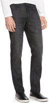 Kenneth Cole Reaction Black Wash Straight Slim-Fit Jeans