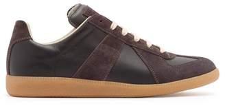 Maison Margiela Replica Suede Panel Leather Trainers - Mens - Black