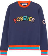 Mira Mikati Appliquéd Cotton-jersey Sweatshirt - Navy