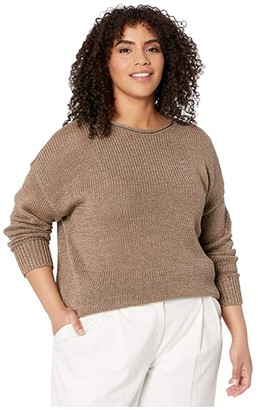 Lauren Ralph Lauren Plus Size Cotton-Blend Sweater (Gold) Women's Clothing