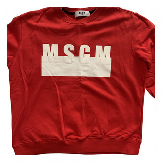 MSGM Red Cotton Knitwear