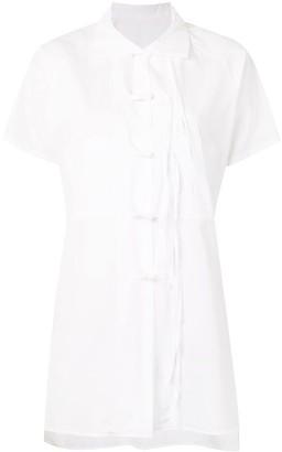 Y's Button Fastening Cotton Shirt With Tassels