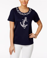 Alfred Dunner Seas the Day Beaded Appliqué Top