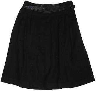 Les Prairies de Paris Black Wool Skirt for Women