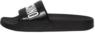 Moschino 20mm Logo Rubber Slide Sandals