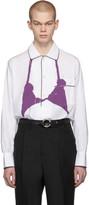 Random Identities White and Purple PJ Bra Shirt
