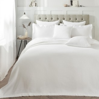 The White Company Florian Bedspread, White, King