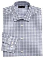 Theory Dover Plaid Dress Shirt