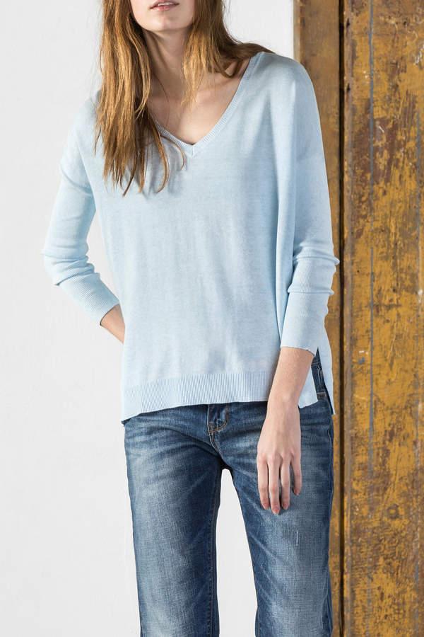 Lilla P Oversized V Neck Sweater