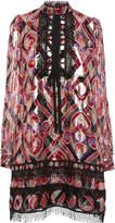 Anna Sui Arabesque Metallic Jacquard Blouse
