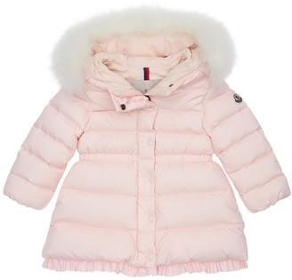 Moncler Nylon Down Coat W/fur