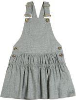 Chloé Cotton Blend Flannel Overall Dress