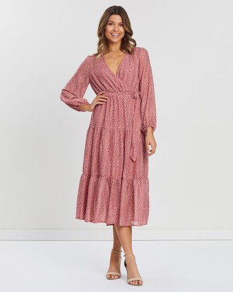 Atmos & Here Victoria Tiered Maxi Dress